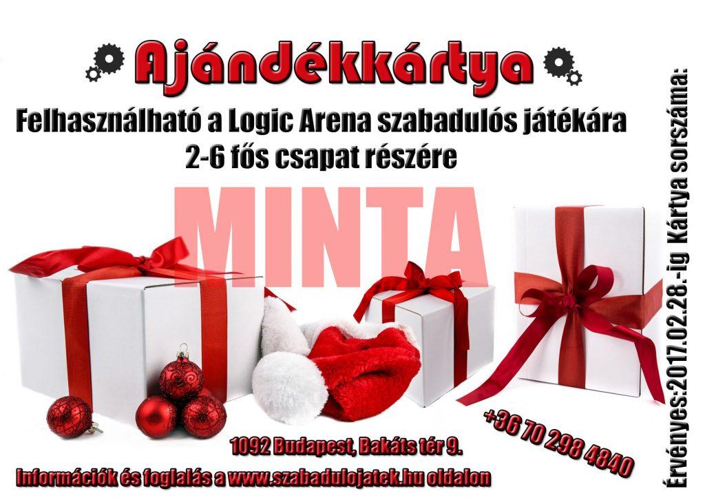 karácsonyi akció Logic Arena Karácsonyi ajándékkártya - Szabadulós játék, kijutós játék, szabadulószoba budapest, szabaduló játék budapest, live escape game, escape game Budapest
