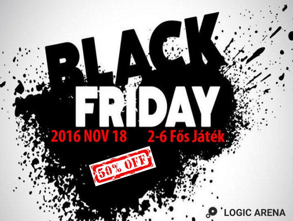 black friday a szabaduló szobában Logic Arena
